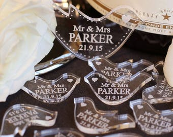 Dove Wedding Table Decorations, Dove Wedding confetti, Mr & Mrs Table Decor, Personalised Favours, Centrepiece Decoration, Wedding confetti
