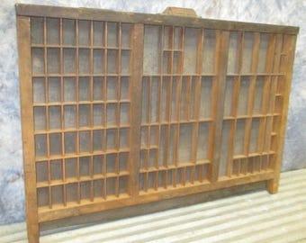 Printer Drawer Wood Block Typeset Tray Letterpress Thimble Shelf Display a 21 Typeset Drawer, Letterpress Tray, Shadow Box
