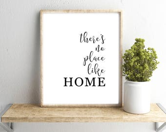 Delicieux Thereu0027s No Place Like Home Wall Art, Shabby Chic Art, Farmhouse Printable,  Home