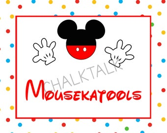 Mousekatools - Mousekatools Sign - Mickey Mouse Birthday Sign - Mickey Mouse Chalkboard - Mickey Mouse Party - Digital File - Photo Prop