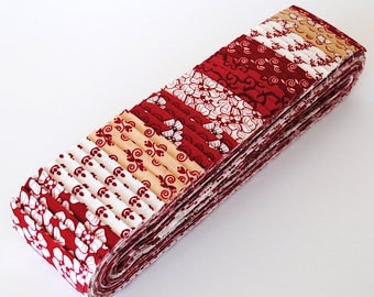 Quilting Pre-cut 40pc Strip Set in Red Rooster's Coonawarra - Jelly Roll, Fabric Strips, Quilting Fabric