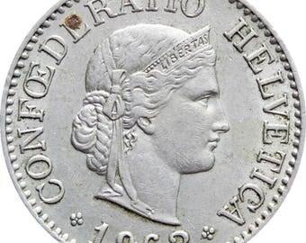 1962 10 Rappen Switzerland Coin