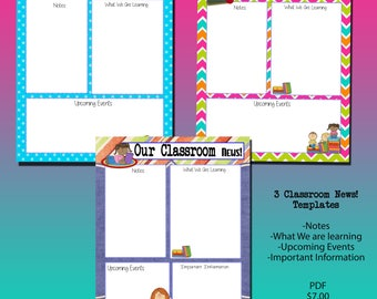 3 Our Classroom News Templates