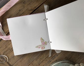 Decorated pages for album. Pre made scrap book layouts, baby album upgrade