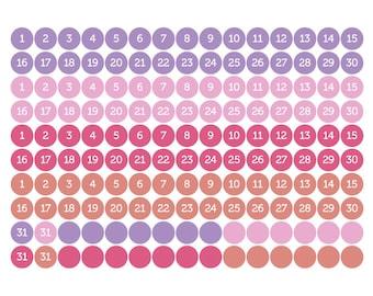 "4 months tiny dot stickers, planner stickers, date cover stickers, 0.25"" round stickers, circle stickers, eclp filofax happy planner kikkik"