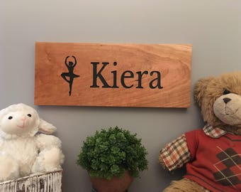Nursery Girls-Personalized Wooden Name Sign-Name Sign-Engraved, Hand Painted Sign, Nursery Decor-Cedar Sign-Personalized Design