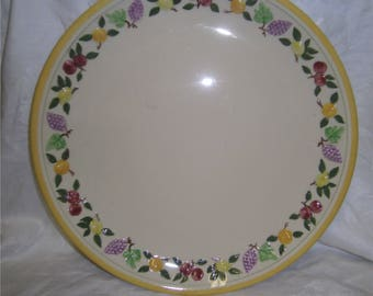 """Franciscan Small Fruit 12"""" Chop Plate RARE!"""