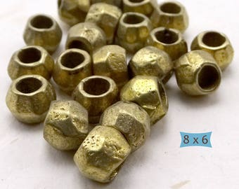 Hand Made Rustic Brass Spacers--10 Pcs | 20-BR5008-10
