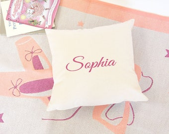 Personalised Baby Cushion Cover with Name, Nursery Cushions, FAIRTRADE Cotton Canvas