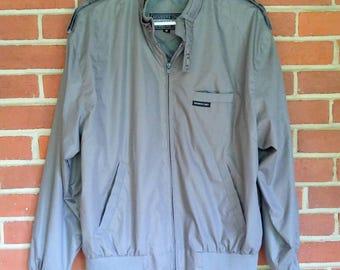 1980's Member's Only jacket gray Men's Medium vintage 80's fashion windbreaker