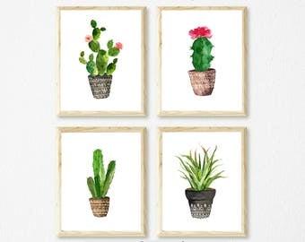 Cactus Wall Art cactus art print | etsy