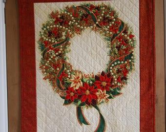 Christmas Wreath Wall Hanging, Wreath Wall Hanging, Christmas Wall Hanging, Christmas Picture, Wreath, Christmas Wreath, Xmas Wall Hanging