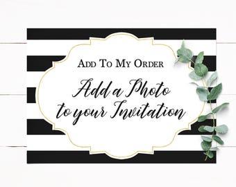 Add a Photo to Invitation