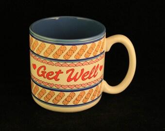 Vintage 1989 Get Well Bandage Mug