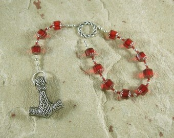 Thor Pocket Prayer Beads: Norse God of Thunder, Protector of Humanity