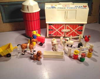 Vintage Fisher Price 70s farm