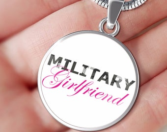 Military Girlfriend - Luxury Necklace - Deployment Gift - Military Air Force Army Navy Coast Guard Marines - Handmade Jewelry Gift For Her