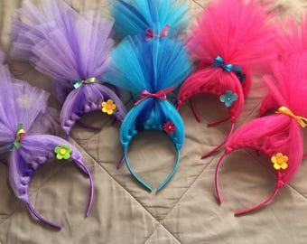 Trolls headbands, Trolls hair headbands, dreamworks trolls, trolls, trolls hair, trolls hair accessories