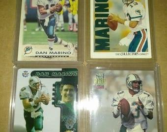 4 Dan Marino football trading cards