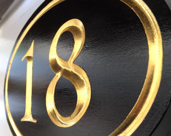 "Handcrafted house number signs 1-2 numbers 8"" x 12"" x 1"""