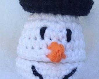 Snowman head egg buddie
