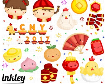 Chinese New Year Clipart, Chinese New Year Clip Art, Chinese New Year Png, CNY, Cute Kids Clipart, Tradition Clipart, New Year Clipart