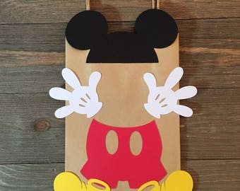 Mickey Mouse party decor | Mickey Mouse treat bags | Mickey Mouse loot | Mickey Mouse goodie bags | Mickey Mouse birthday party