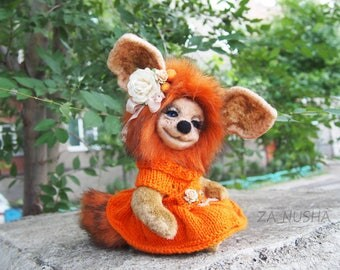 Fluffy teddy cat, amazing beast, collectable toy