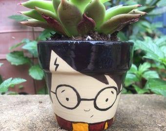 Harry Potter mini plant pot