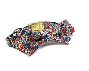 Luxury Dog or Cat Bow Tie - The WREN // Contemporary (Liberty of London floral print)