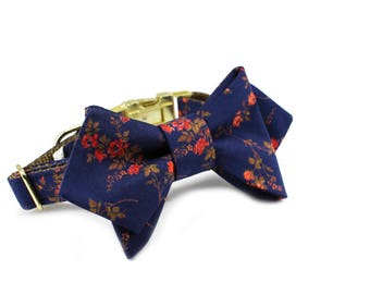 Luxury Dog or Cat Bow Tie - The ALICE // Femme (Liberty of London floral print)