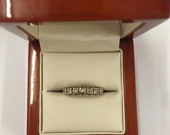 Vintage 70s 9ct Yellow Gold Diamond Ring Size O
