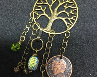 Tree of Life Chandalier Necklace
