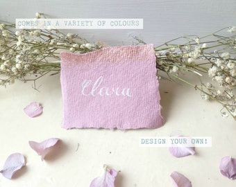 ROSE GOLD Wedding Stationery, Handmade Paper Place Name Card, Name Tags, Handwritten Cards, Place Settings, Calligraphy name cards
