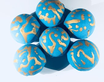 Fizz,Fizz, Fizzy bath bombs, bath fizzy, blue bath bomb, gold  turquoise bombs