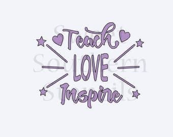 Teach Love Inspire Cookie Stencil
