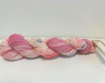 Pink Party. 50g . 4ply sock yarn . Wool nylon mix
