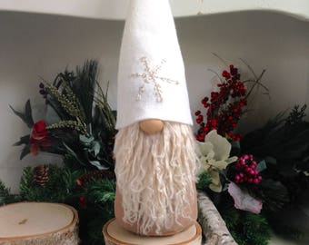 Swedish Gnome- Scandinavian Tomte - Winter Gnome-  Large