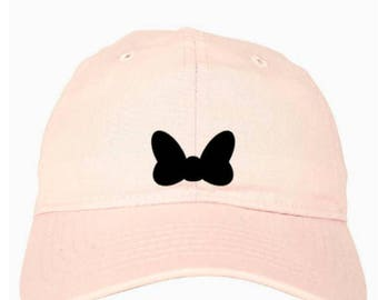 Disney Hat // Disney Baseball Cap // Disney Minnie Bow Hat // Disney Baseball Hat // Mickey Mouse Hat // Mickey Ears // Disney Ears