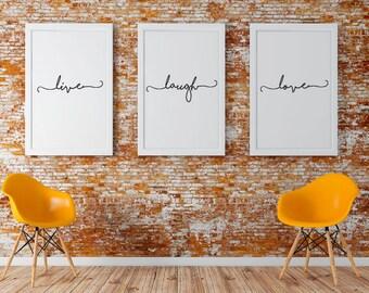 Live Laugh Love - Simple Artwork Collection