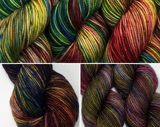 Fall Colors  - Hand dyed on Cable Worsted
