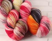 Autumnal Steampunk - Hand Dyed Varigated Yarn - Superfine Superwash Merino - DK yarn - Hand Dyed Yarn - 8ply Hand Dyed - Yarn