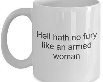Shoot like a girl mug - woman shooter mug - Shooting coffee mug gift idea