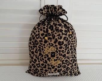 Pouch leopard for lingerie
