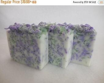 ON SALE Lavender Sage SOAP Loaf - Lavender Soap - Sage Soap - Rustic Wedding Favor - Baby Shower Party Favor - Goats Milk Soap - Unisex Bulk