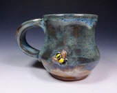 Bee Pottery Stoneware Handmade Pottery mug from Sidhefire Arts