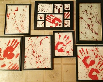 Handpainted Dexter-inspired blood-splatter artwork