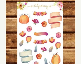 50% OFF PUMPKIN  Spice Icons Stickers // Deco Stickers // Planner Stickers // Fall Stickers // Autumn Stickers