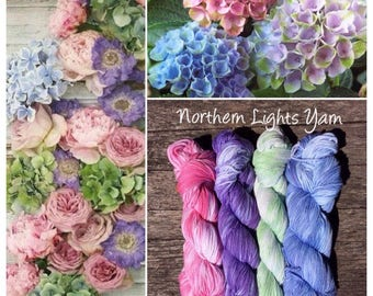 The Secret Garden Collection by Northern Lights Yarn hand-dyed cotton yarn
