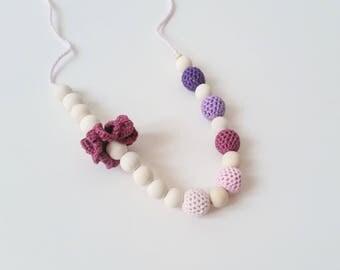 """Lactating necklace Purple mix! """""""